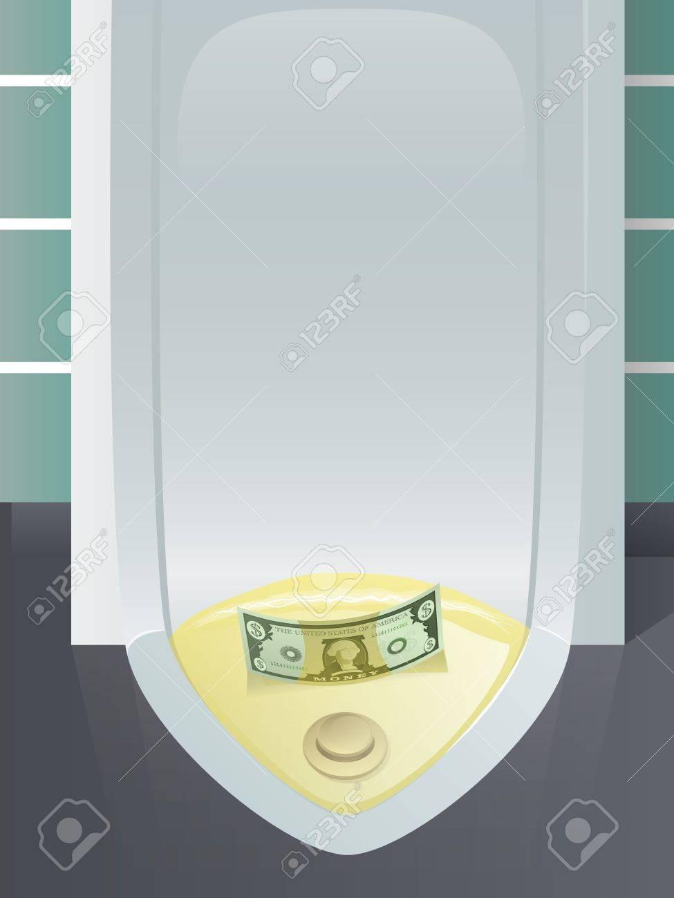 Money Down the Drain Stock Vector - 17124093