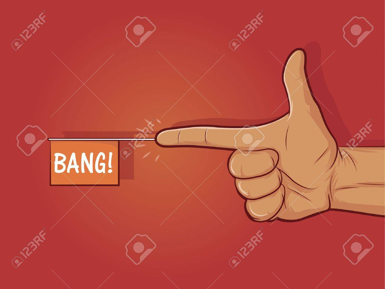 Illustration of a gun hand gesture with Stock Vector - 19487558