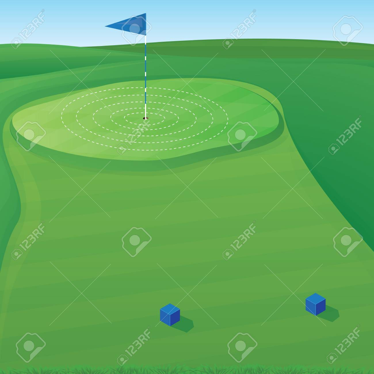 Golf Course Background Illustration With Target Circles Royalty Free Cliparts Vectors And Stock Illustration Image 24767262