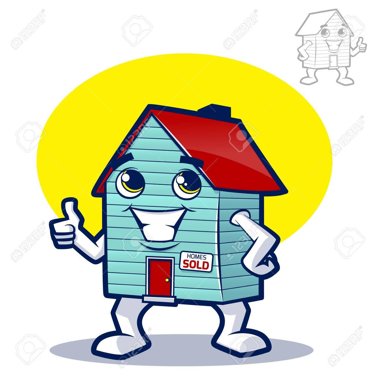 ilustración de dibujos animados para la casa de bienes raíces o de ... - Bienes Inmuebles Dibujos