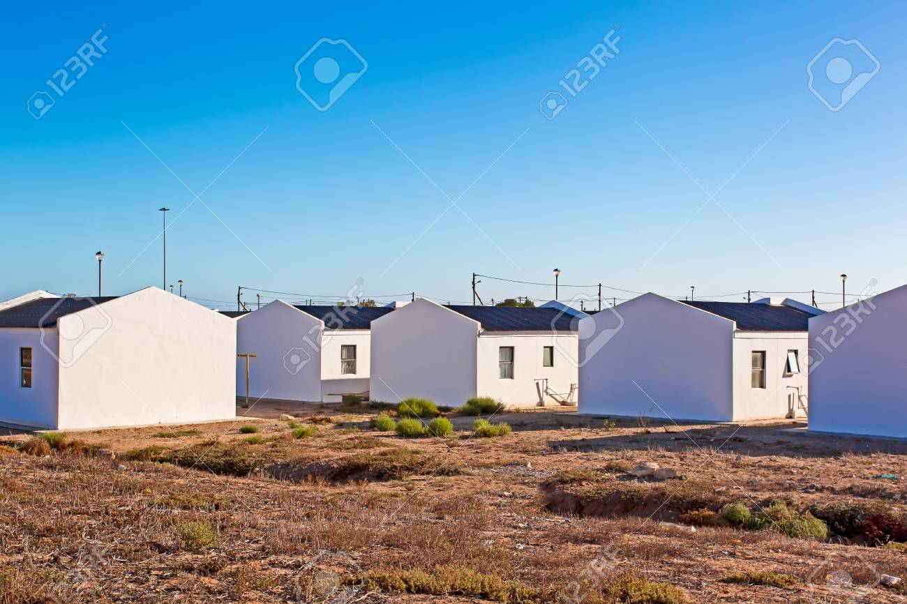 Low cost RDP housing, South Africa - 107459625