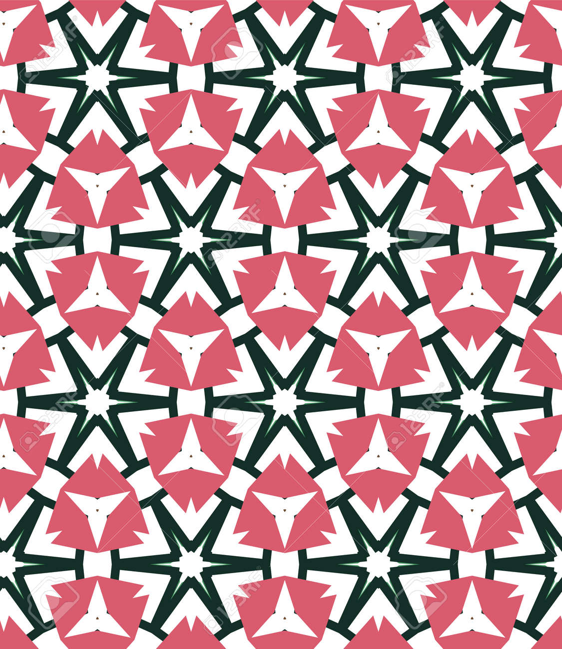 Seamless geometric ornamental vector pattern. Abstract background - 125802010