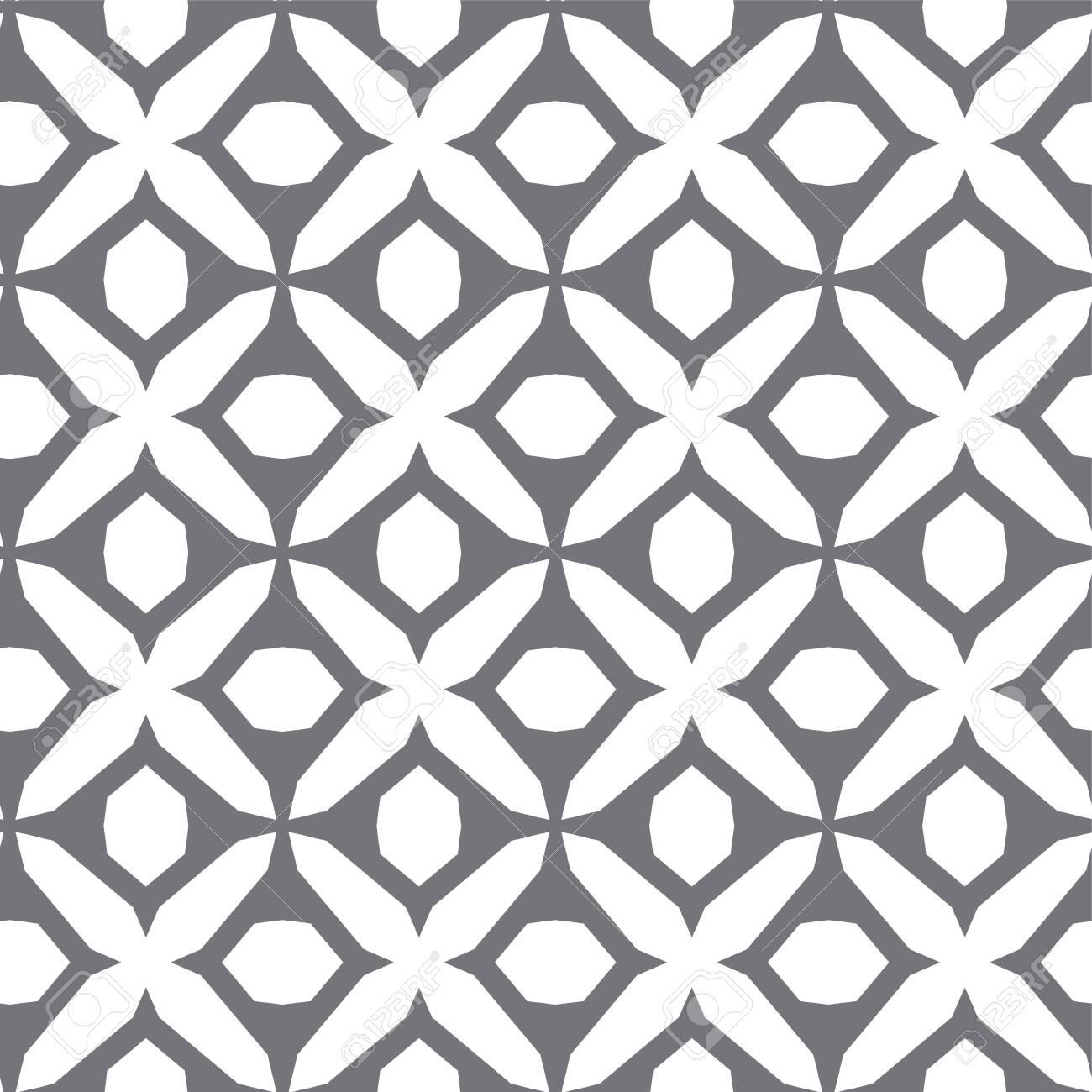 Seamless vector pattern in geometric ornamental style - 129525131