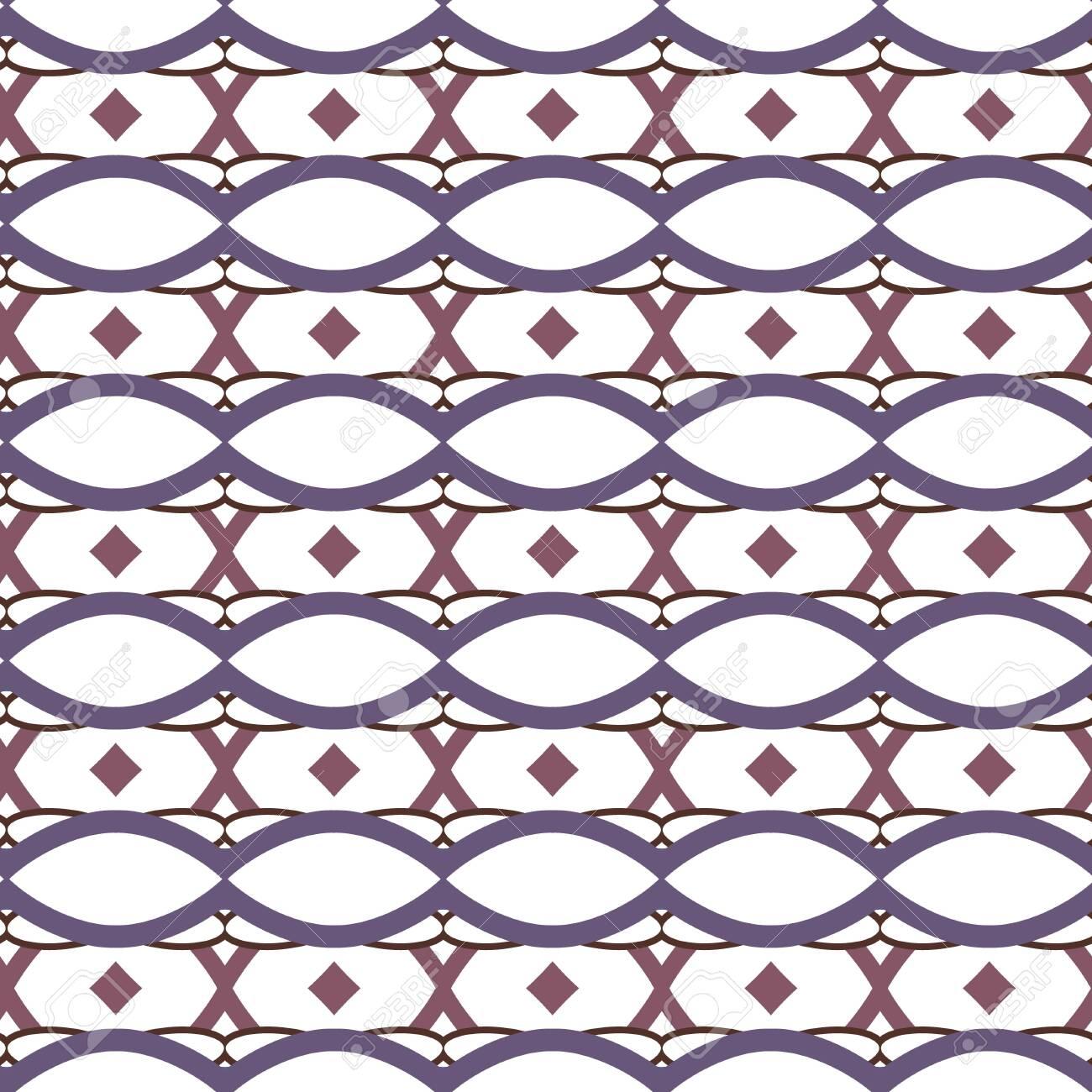 Seamless vector pattern in geometric ornamental style - 130309989