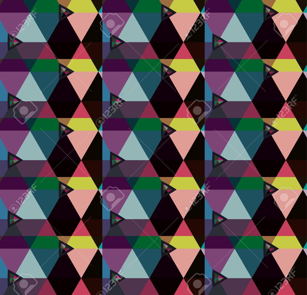 Seamless vector pattern in geometric ornamental style - 133456072