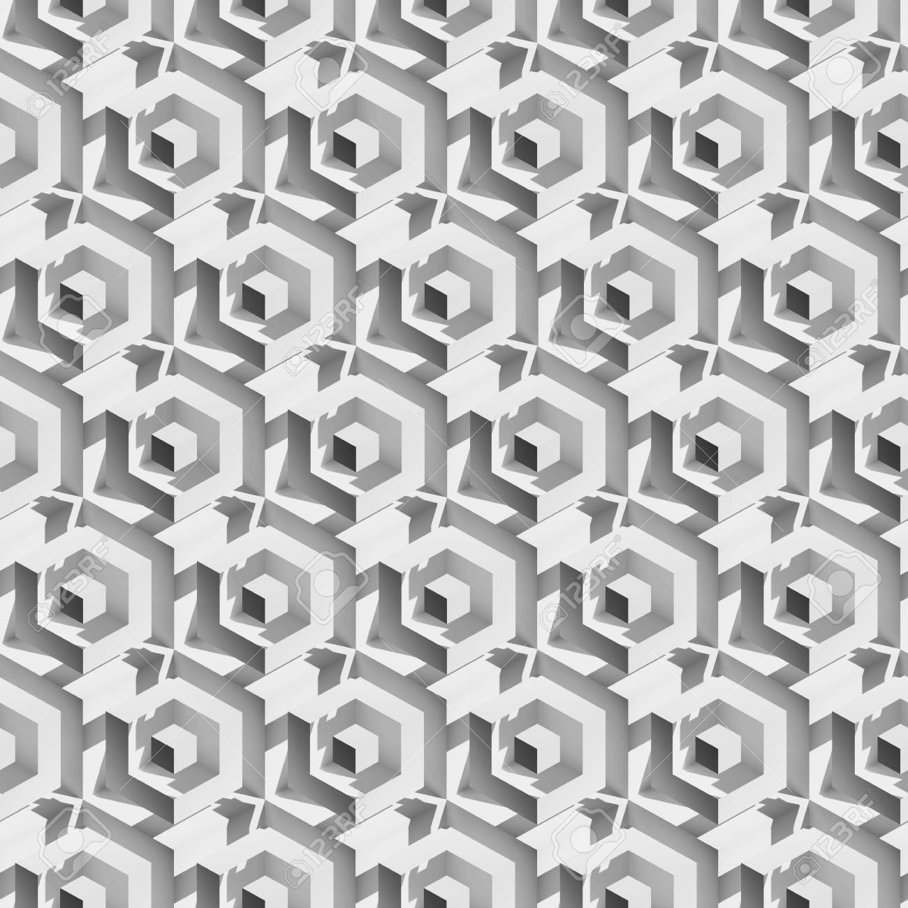 Volume realistic unreal texture, gray cubes, 3d geometric pattern,
