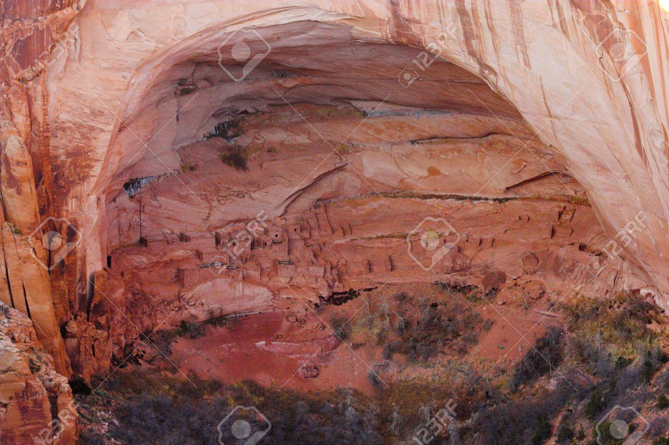 Ancient ruins of pre-historic Indian cultures of American southwest