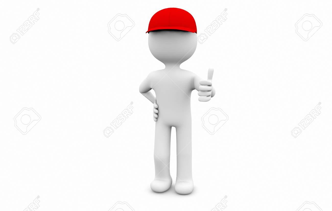 man with a cap and thumb up Stock Photo - 16378572