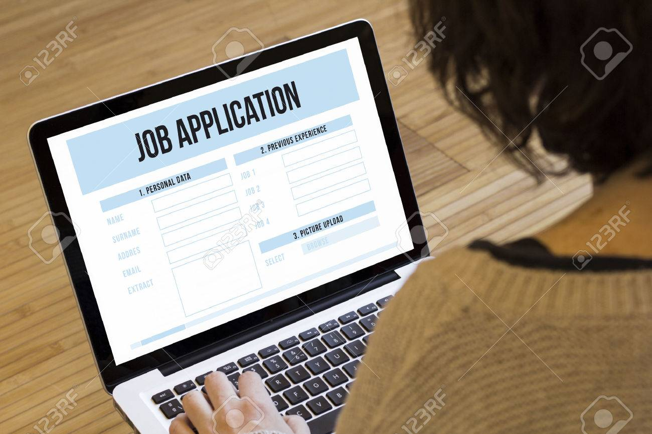 application form stock photos images royalty application application form job search online concept job application on a laptop screen stock photo