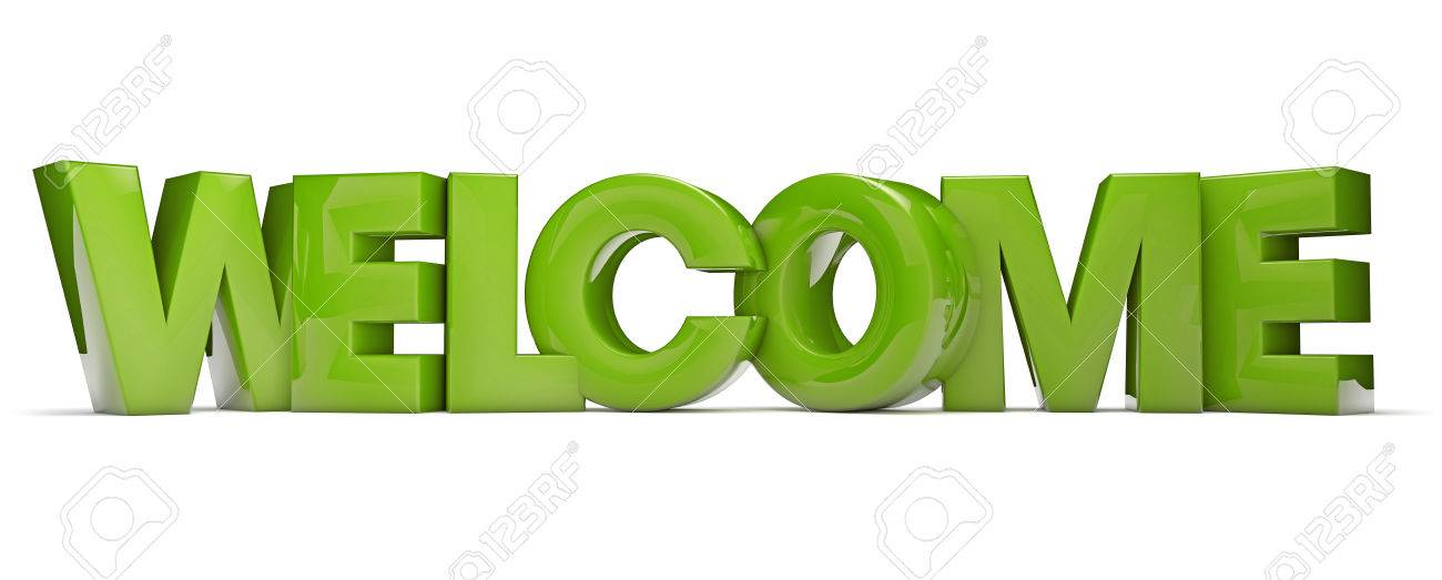 Render Of The Text Welcome Stock Photo Picture And Royalty Free