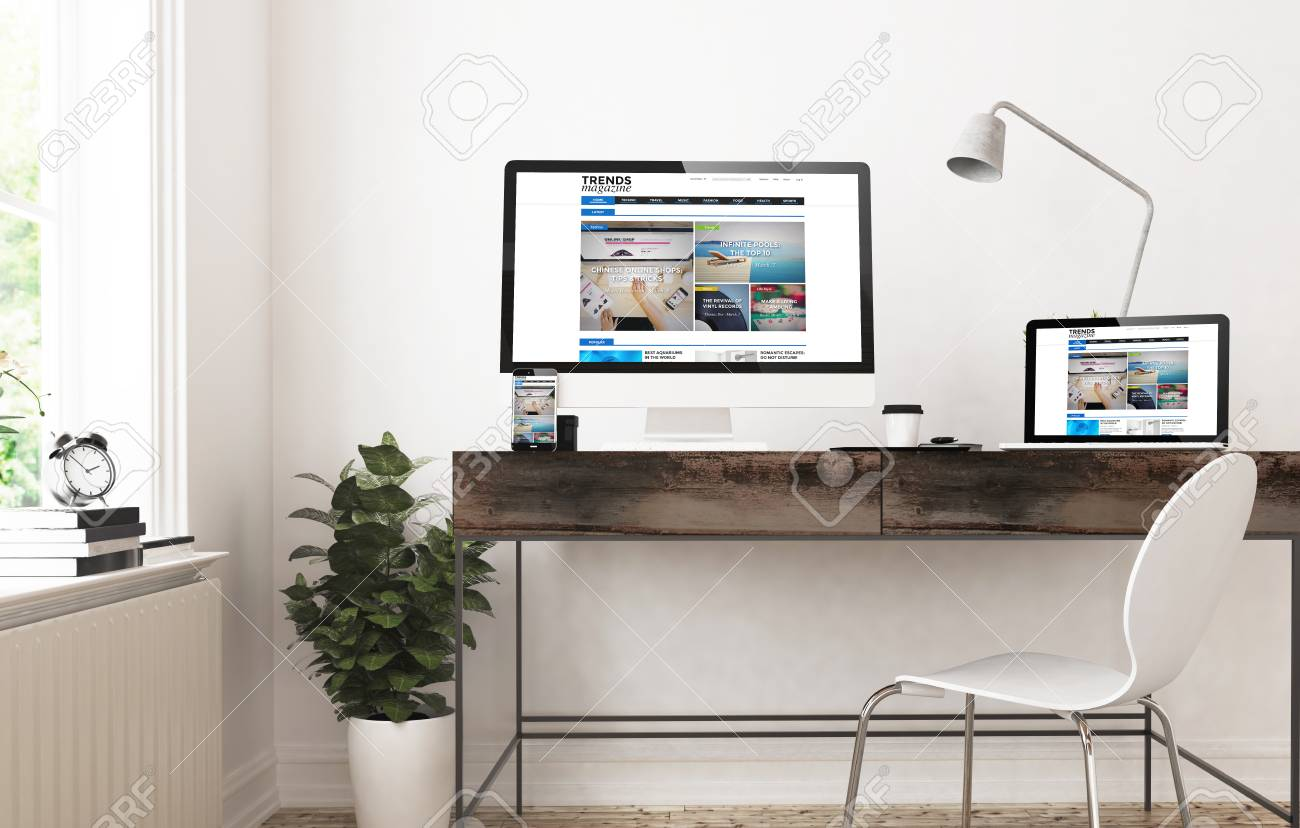 home office devices 3d rendering trends blog magazine responsive