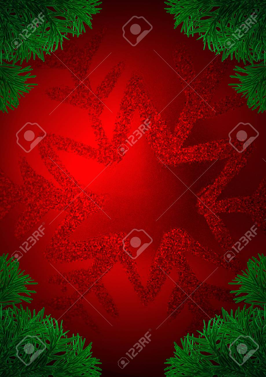 Red Christmas globe and corner fir tree Stock Photo - 3952861