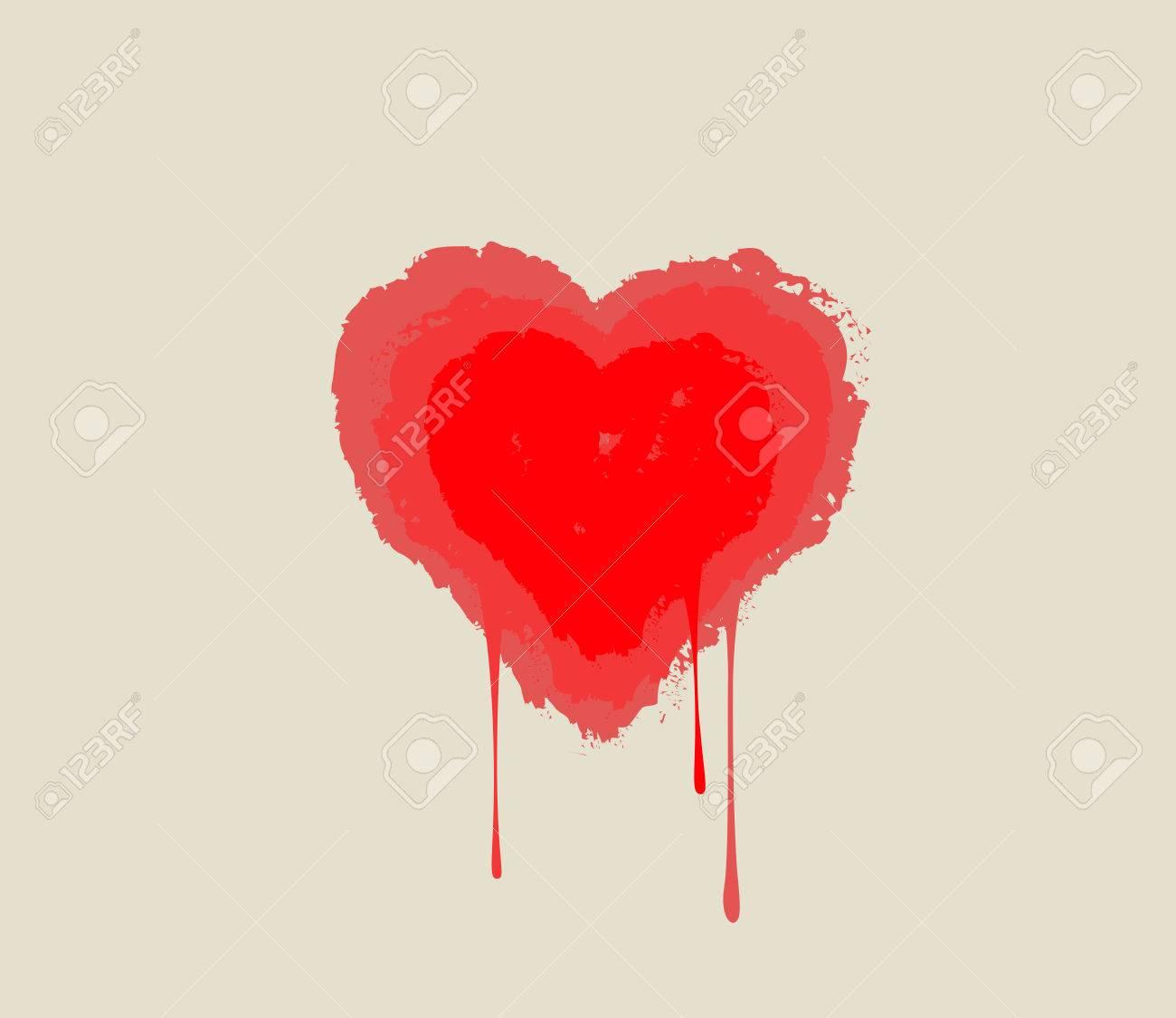 Bleeding heart heart melting in drops love symbol royalty free bleeding heart heart melting in drops love symbol stock vector 45501373 buycottarizona
