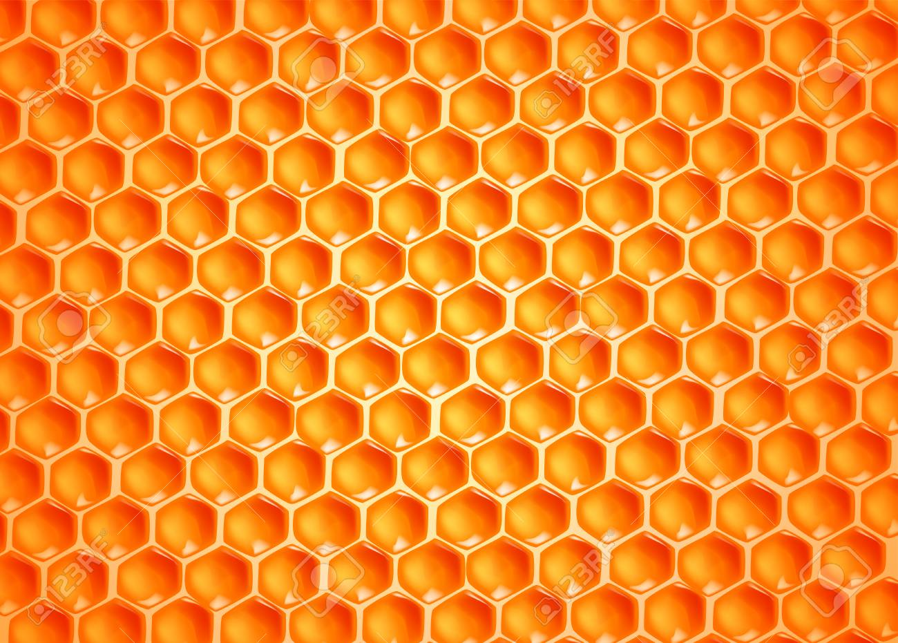 Bee wax cells texture. - 125298576