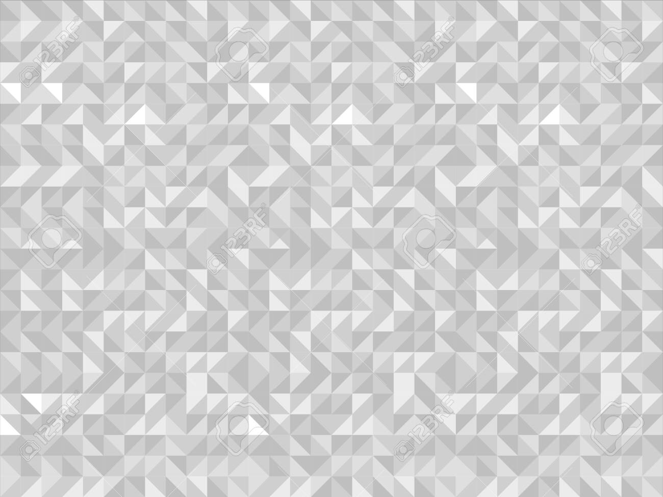 White triangle tiles seamless pattern, vector background. - 131655407