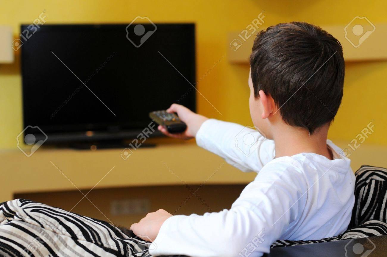little Boy watching TV - 20816439