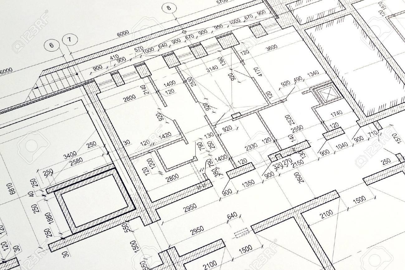 grundriss gestalteten gebaude auf der zeichnung standard bild 30003370