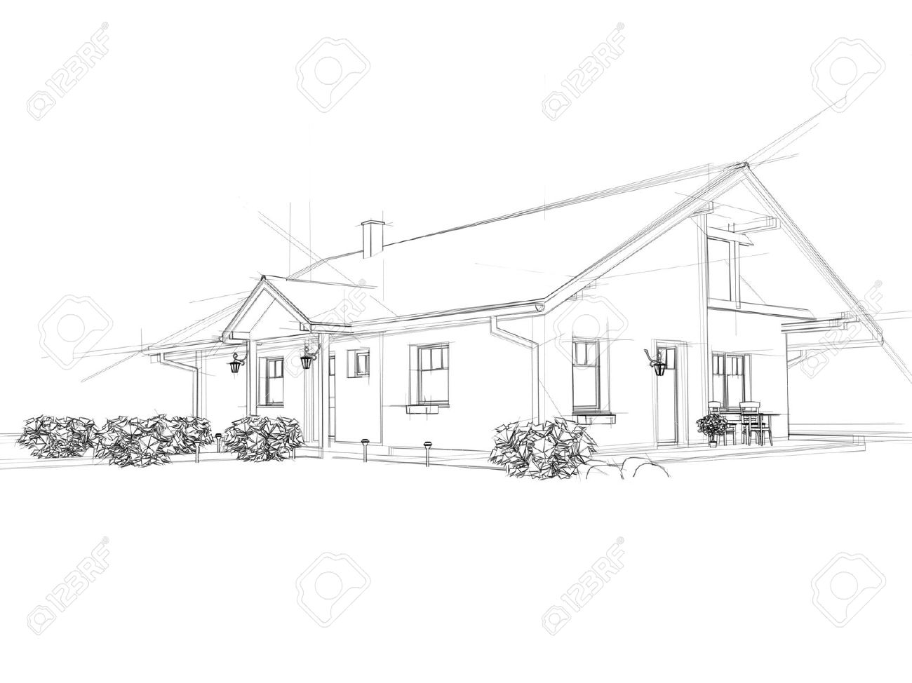 15 426 architectural drawing stock illustrations cliparts and architectural drawing illustation of a house black ink drawing stock photo