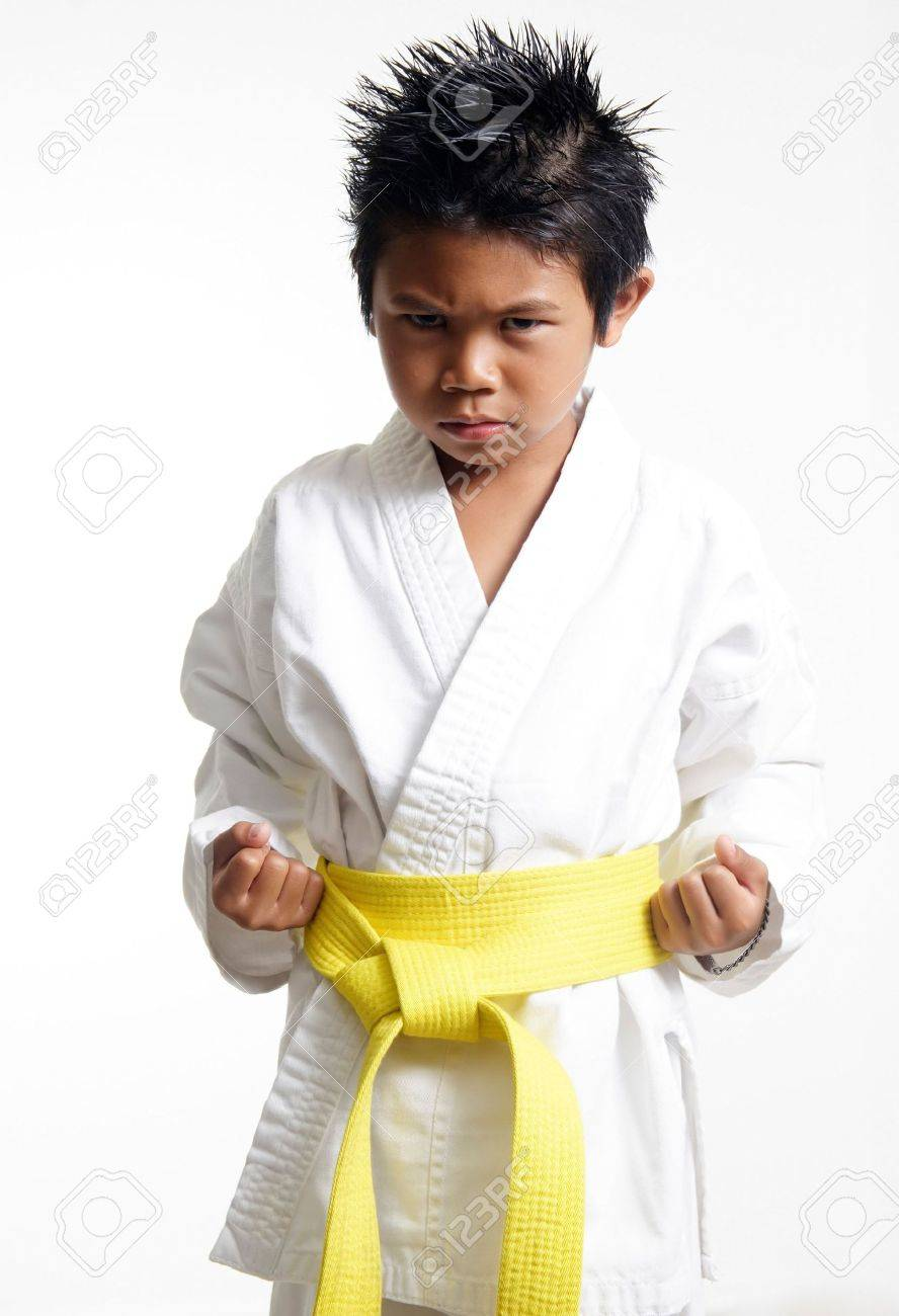 Karate Kid With Yellow Belt