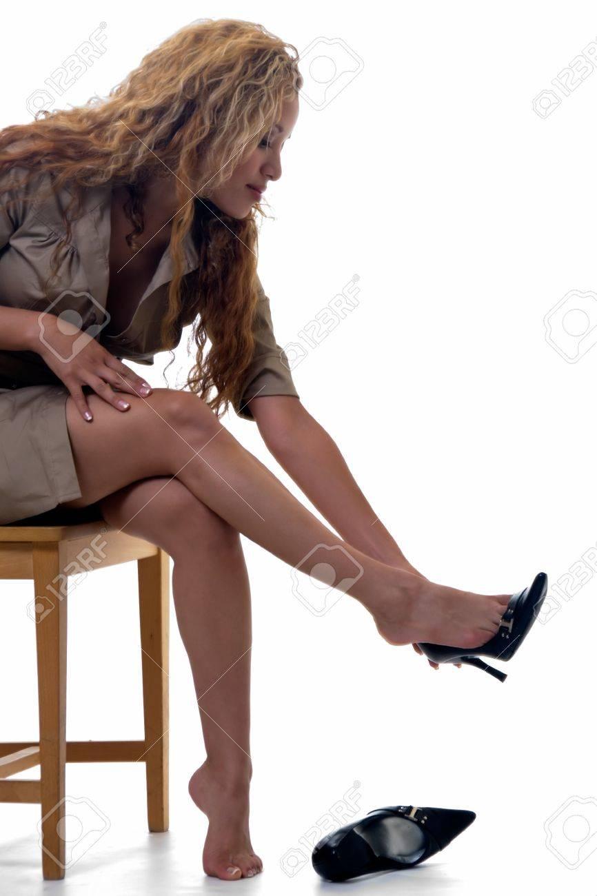 la noir éliminer en haut chaussures femme blonde chaise Attractive talon assise sur bois ZPXlkiwuOT