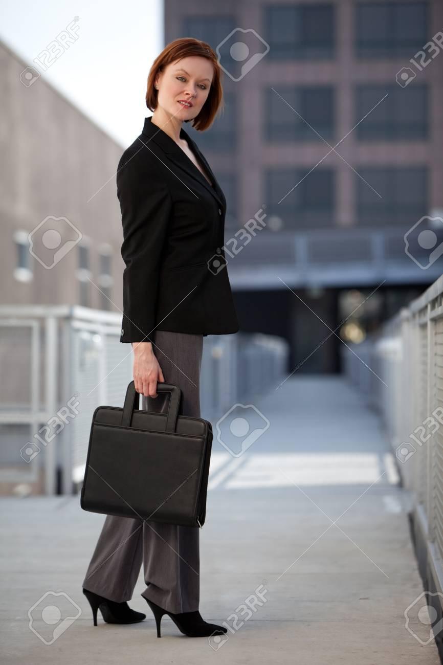Caucasian businesswoman in outdoor setting Stock Photo - 12031136