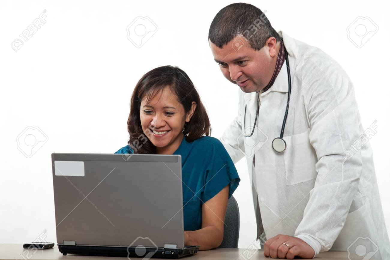 Attractive multi ethnicity medical professional man woman team Stock Photo - 17686585