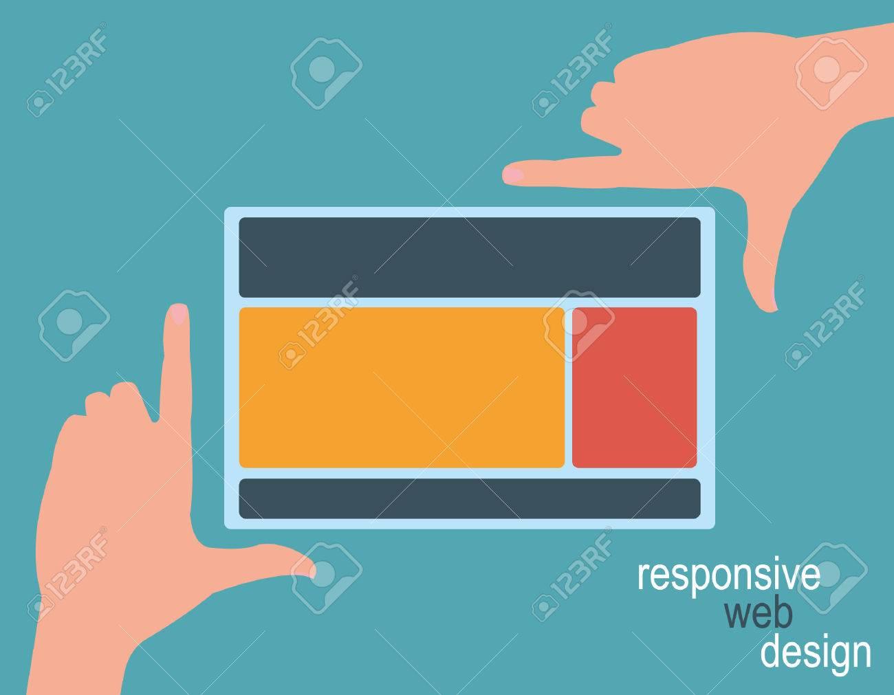 Responsive Web Design, Hände Framing-Vorlage Lizenzfrei Nutzbare ...