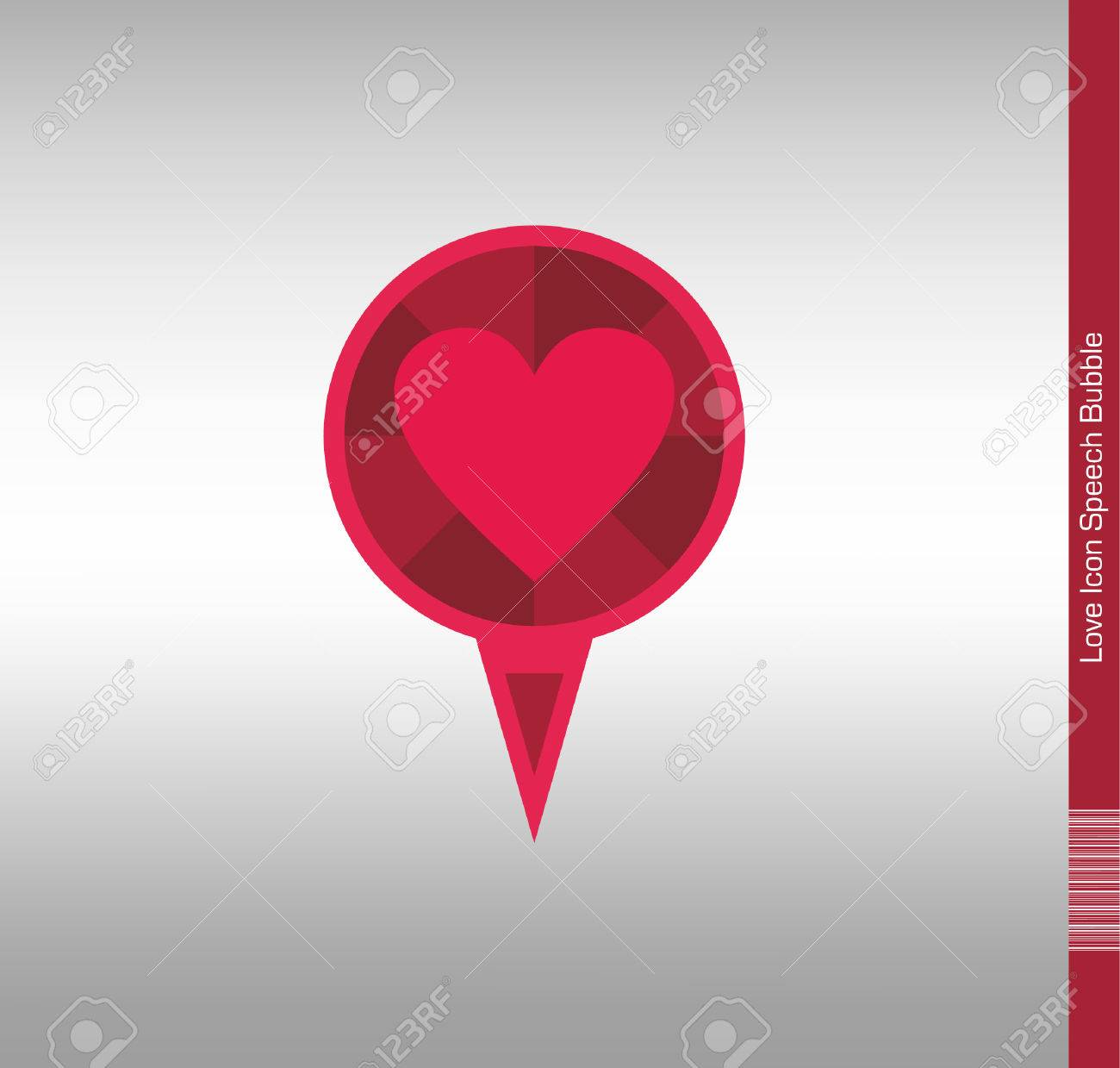 Pin Icon With Heart Symbol Writable Space For Dates And Short