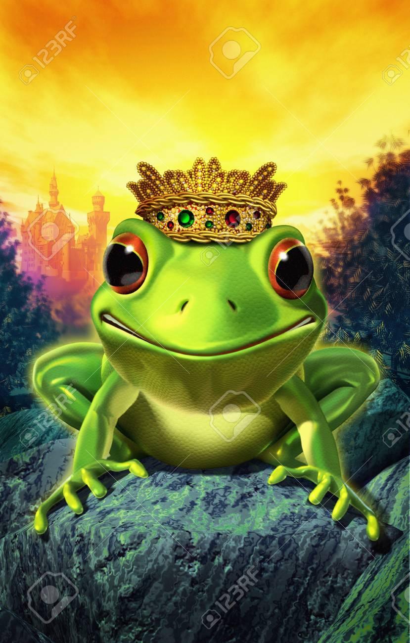 frog wearing crown - 11326637