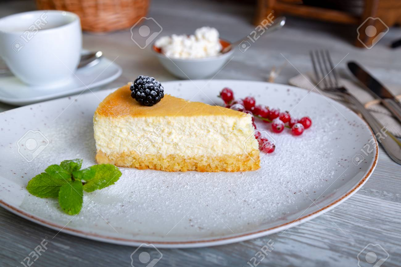 Close Up View Of Beautiful Elegant Sweet Dessert Served On The Plate