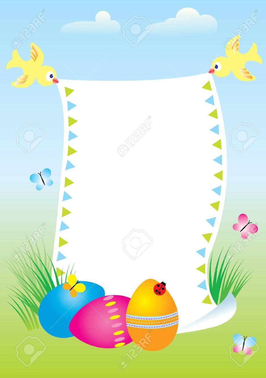Easter postcard Stock Vector - 4458425