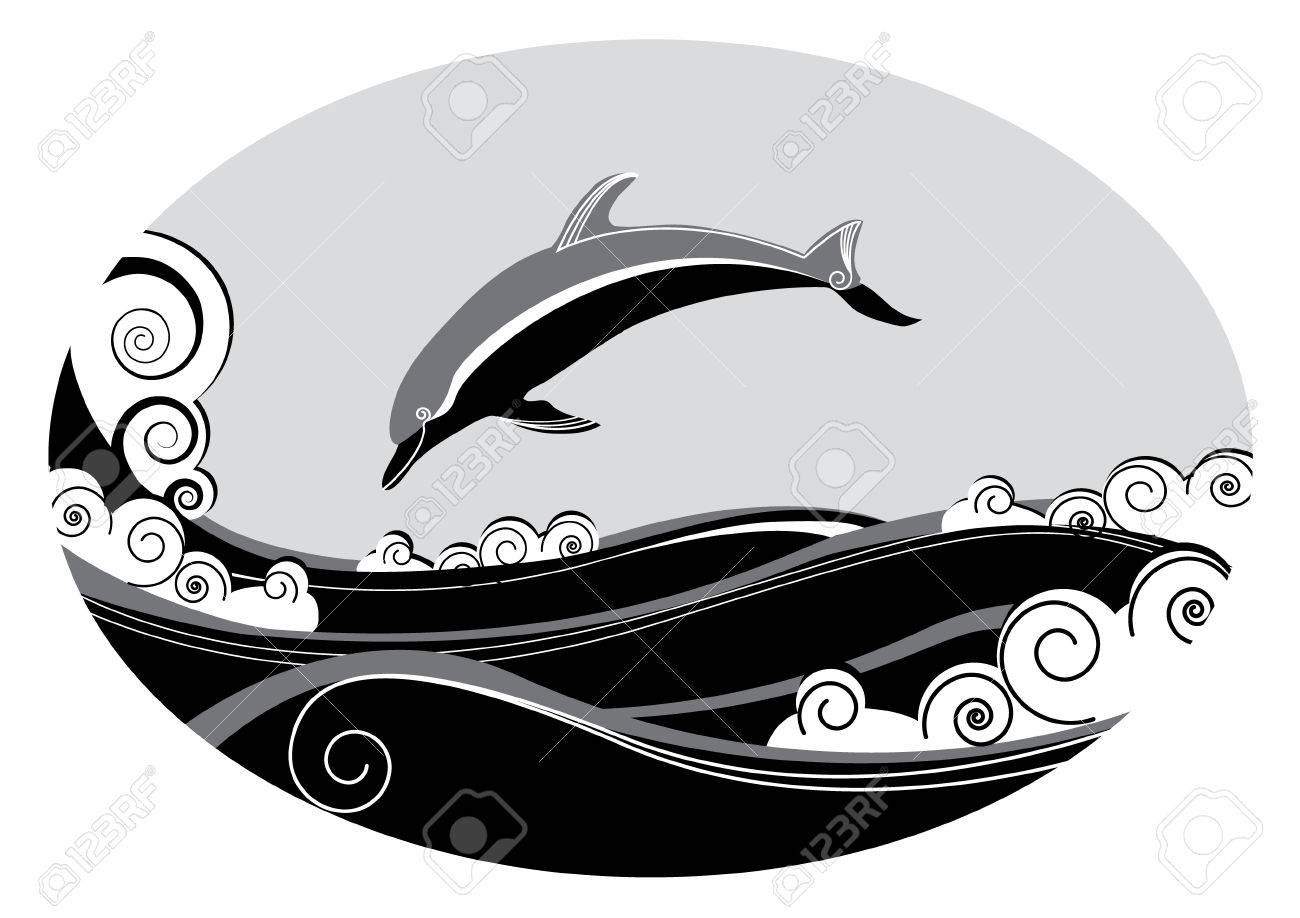 Dolphin. Vector graphic Stock Vector - 5813369