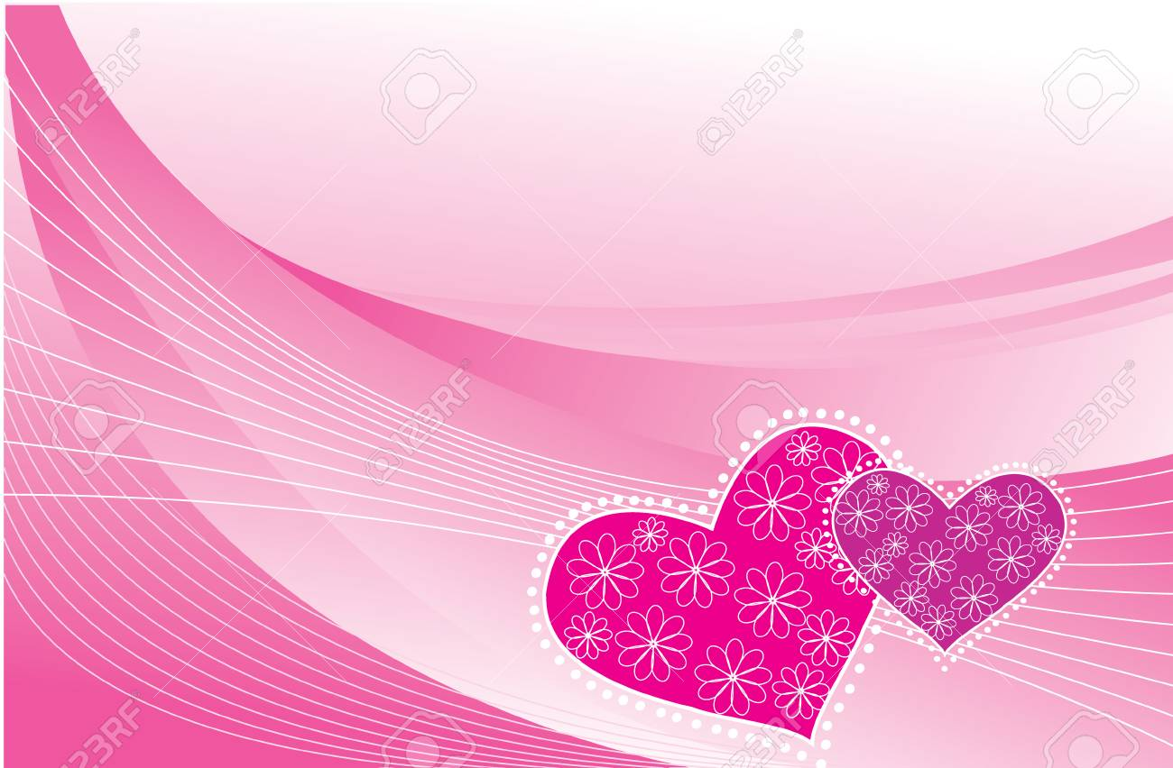 Valentin's postcard.  pink greeting background Stock Vector - 6368595