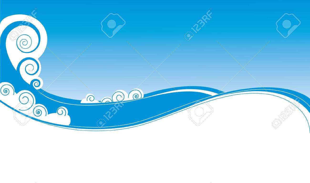 Vector Graphic Waves.Sea Background Royalty Free Cliparts, Vectors ...