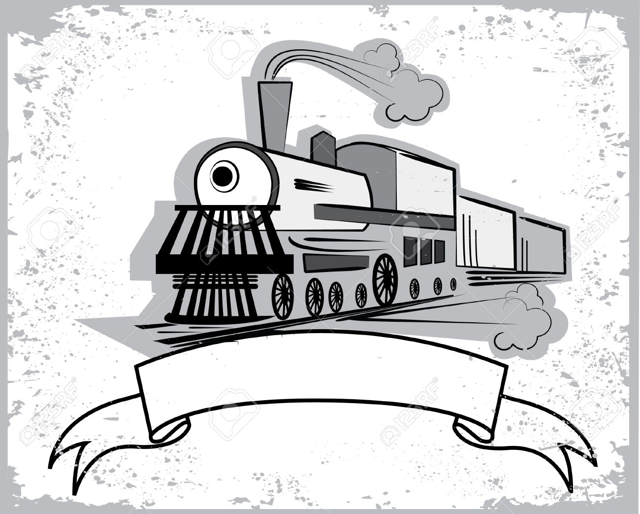 Locomotive.Graphic  for text Stock Vector - 7717893