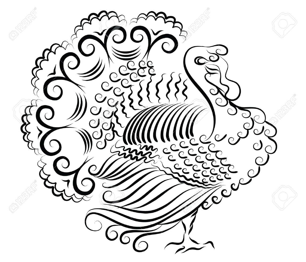 turkey thanksgiving day bird for design royalty free cliparts