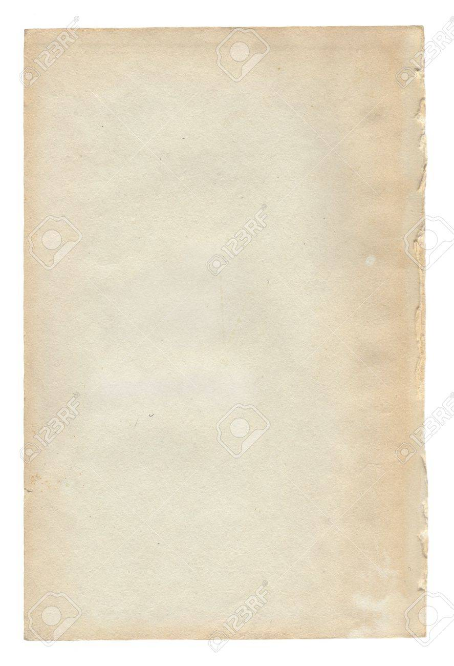 Old paper background texture for design on white. Stock Photo - 8476816