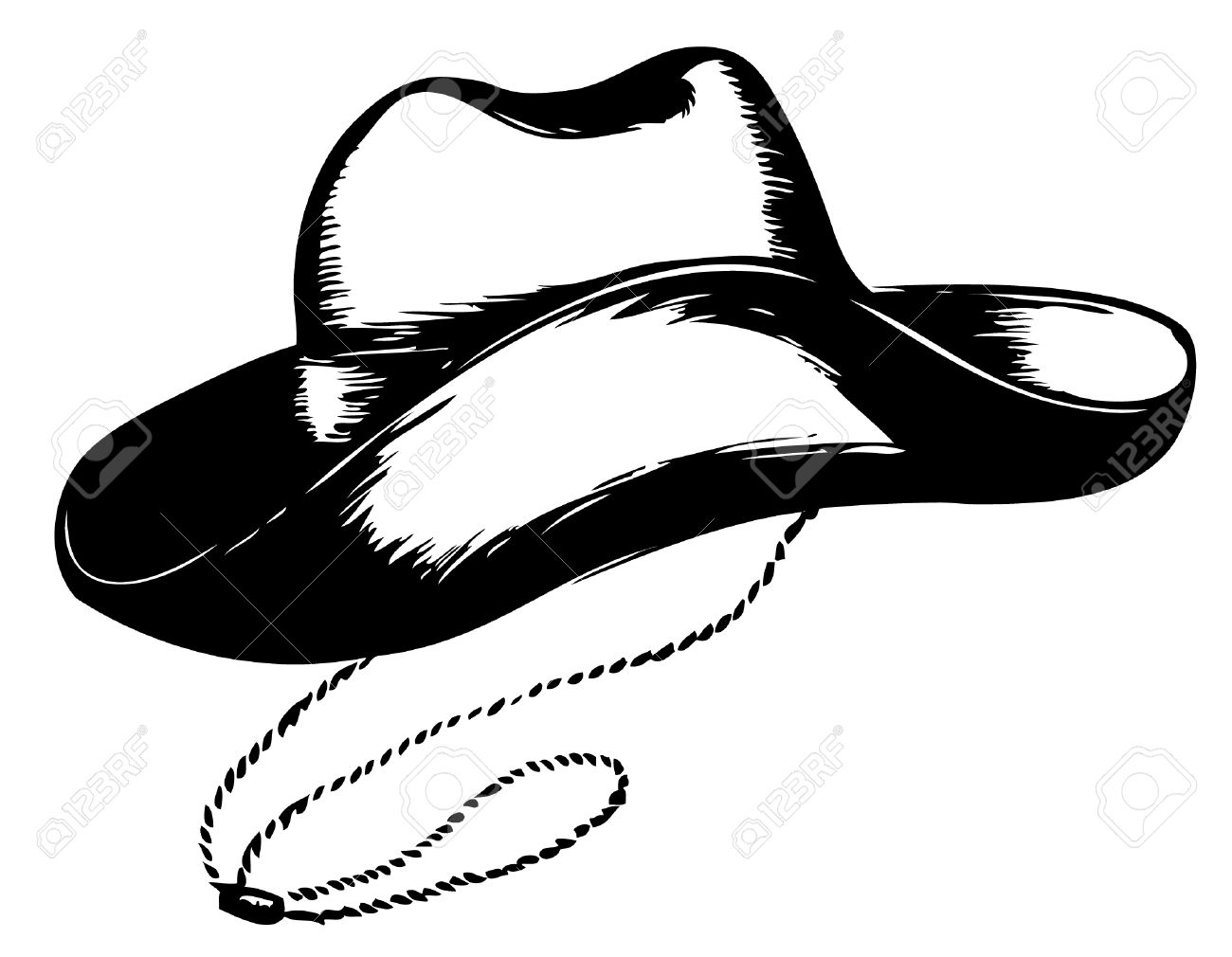 Cowboy Hat Graphics Cowboy Hat on White