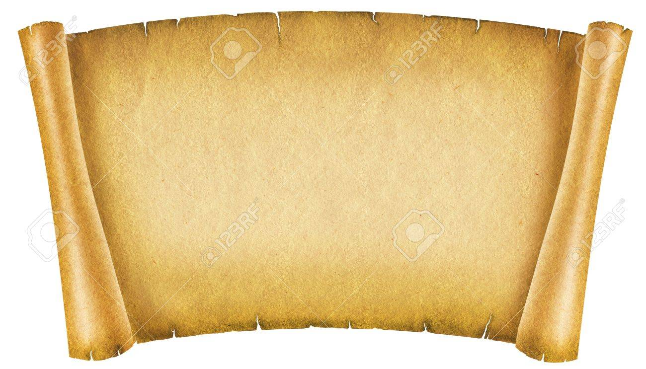 old paper texture.antique background scroll for text on white stock