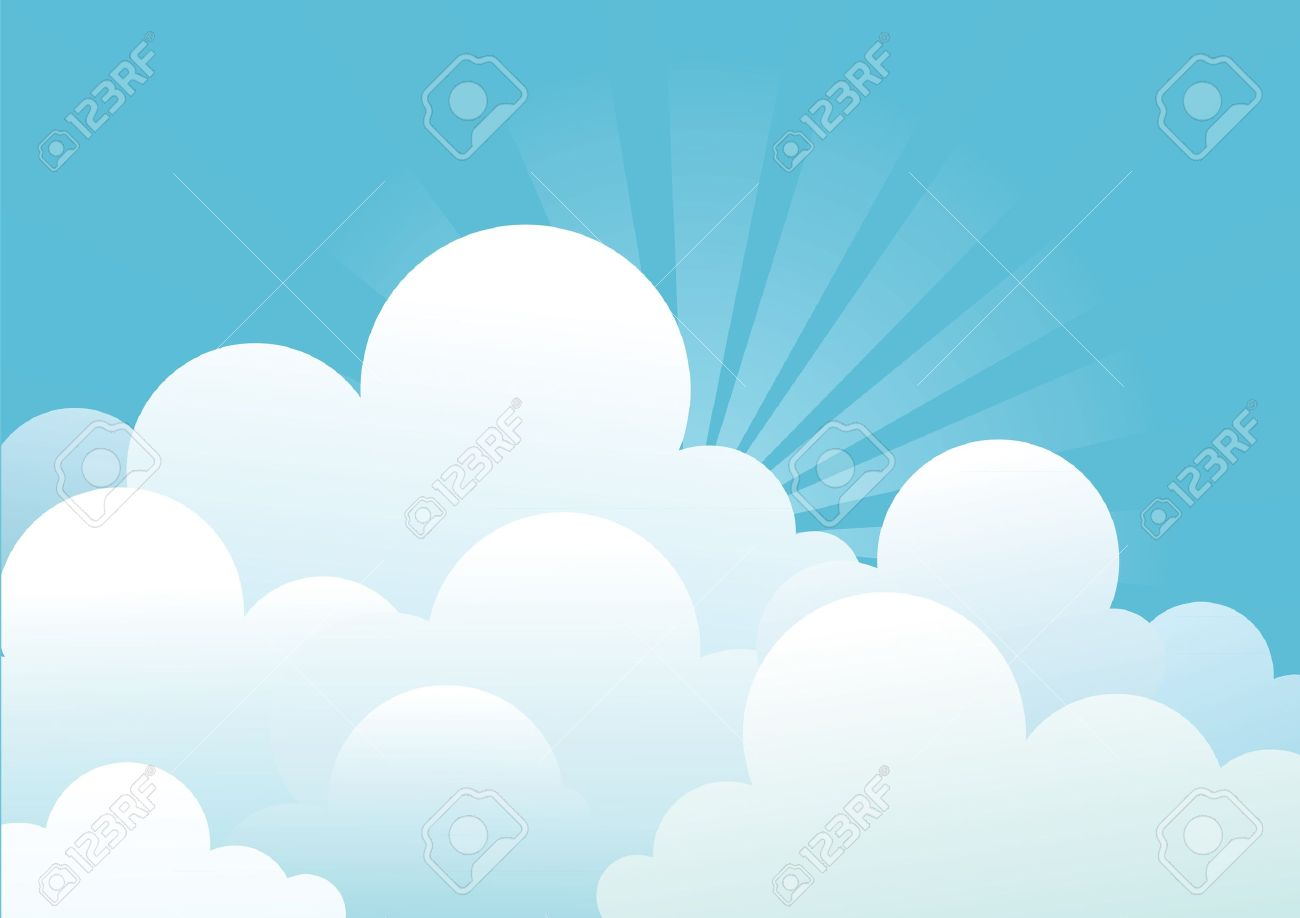 Blue sky with beautifull clouds.Vector image Stock Vector - 9278758