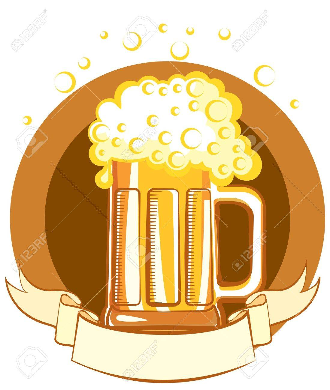 Glass of beer. color symbol of Illustration for text Stock Vector - 9533140