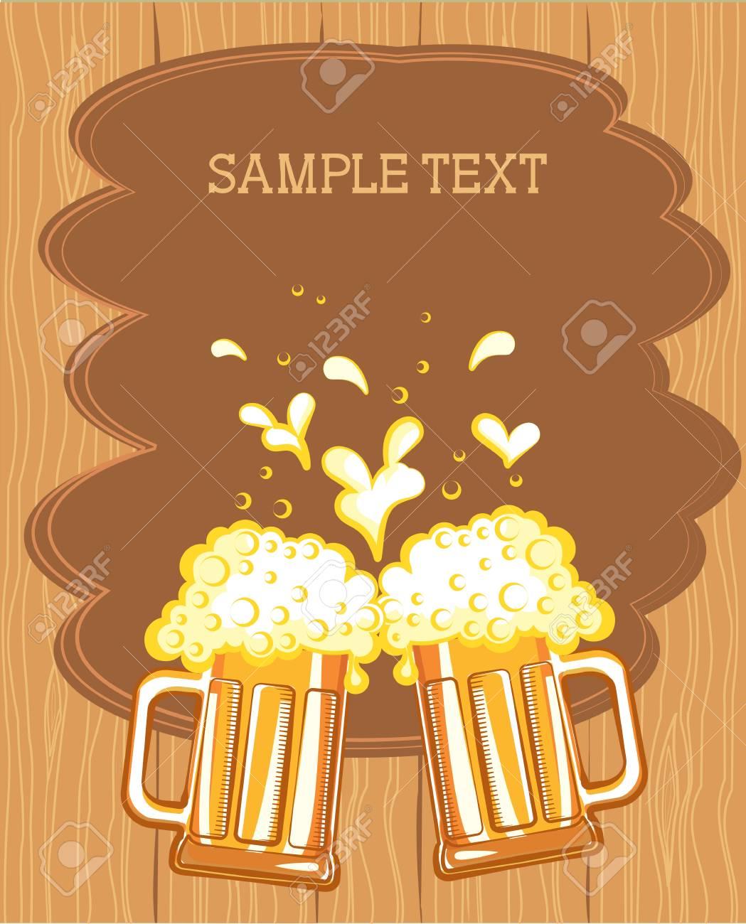 Glasses of beer. color symbol of Illustration for design Stock Vector - 9533136
