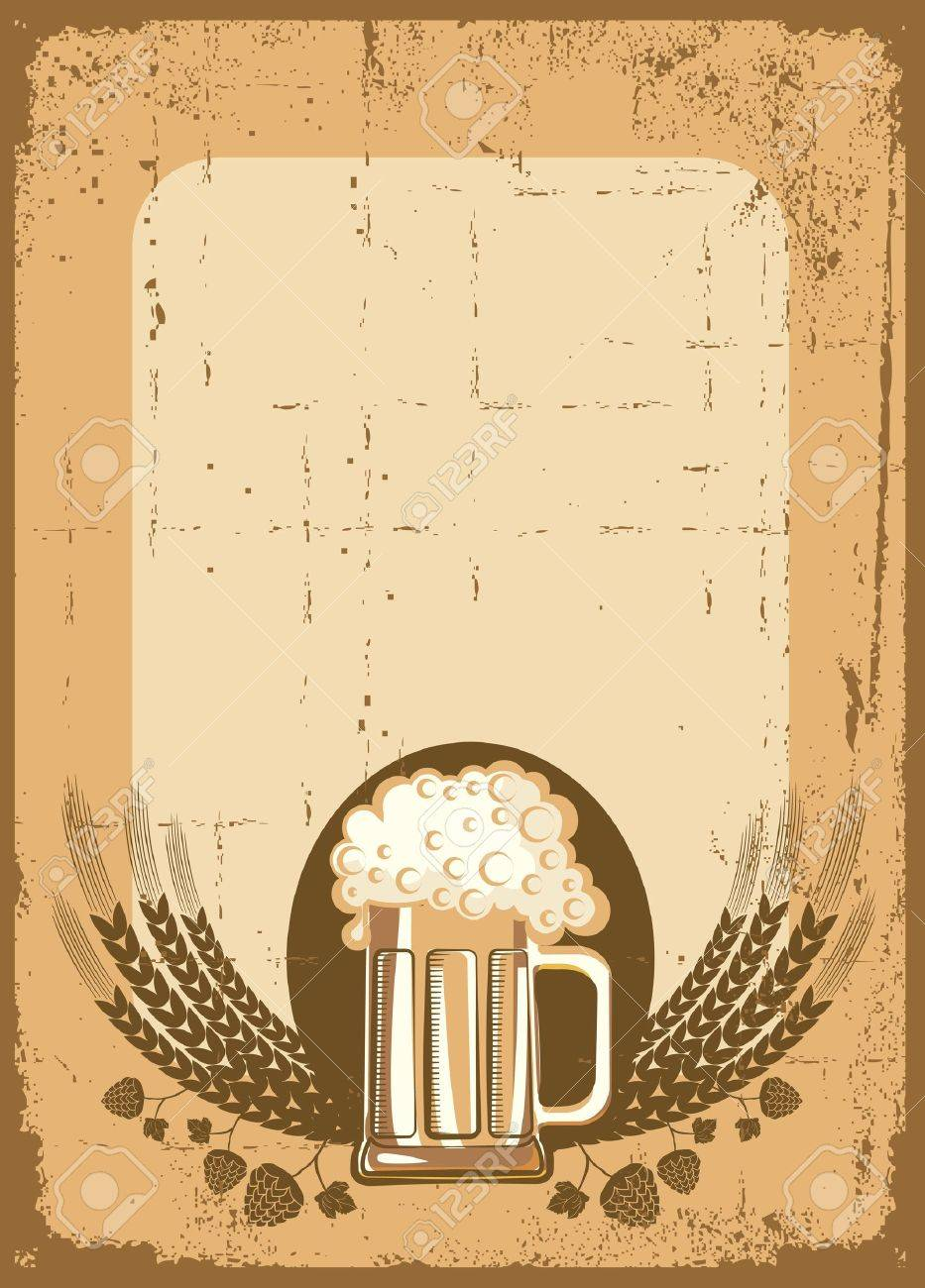 Beer background. grunge Illustration for text Stock Vector - 9533117