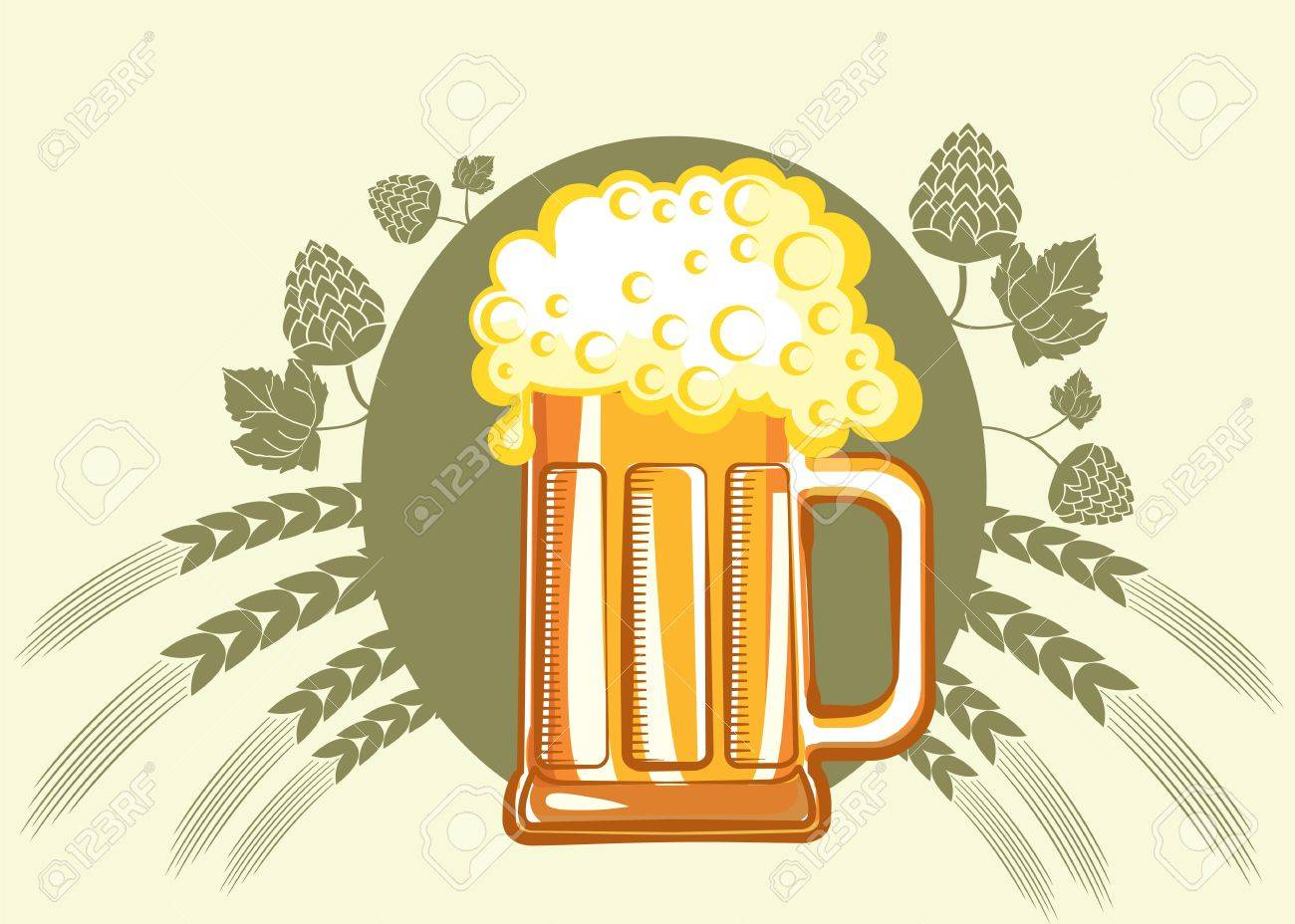 Glass of beer. color symbol of Illustration for design Stock Vector - 9533121