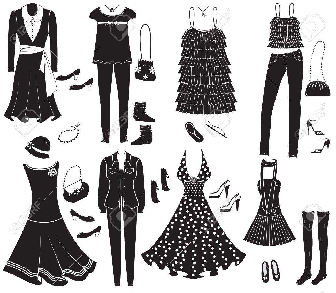 Ropa De Moda Y Accesorios Para Weman De Diseo Ilustraciones