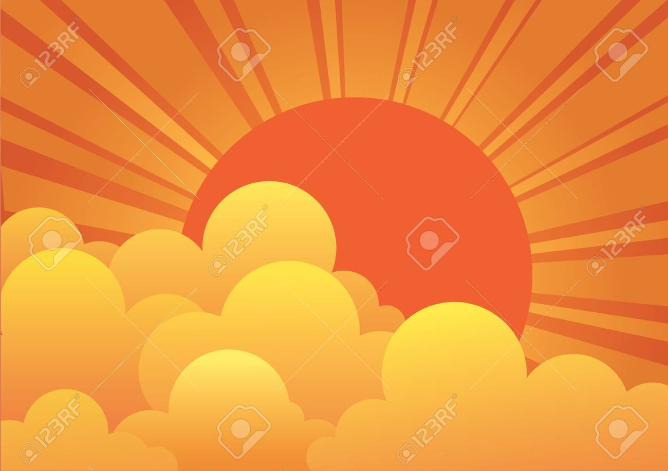 sky with sun and beautiful clouds.image Stock Vector - 9923672