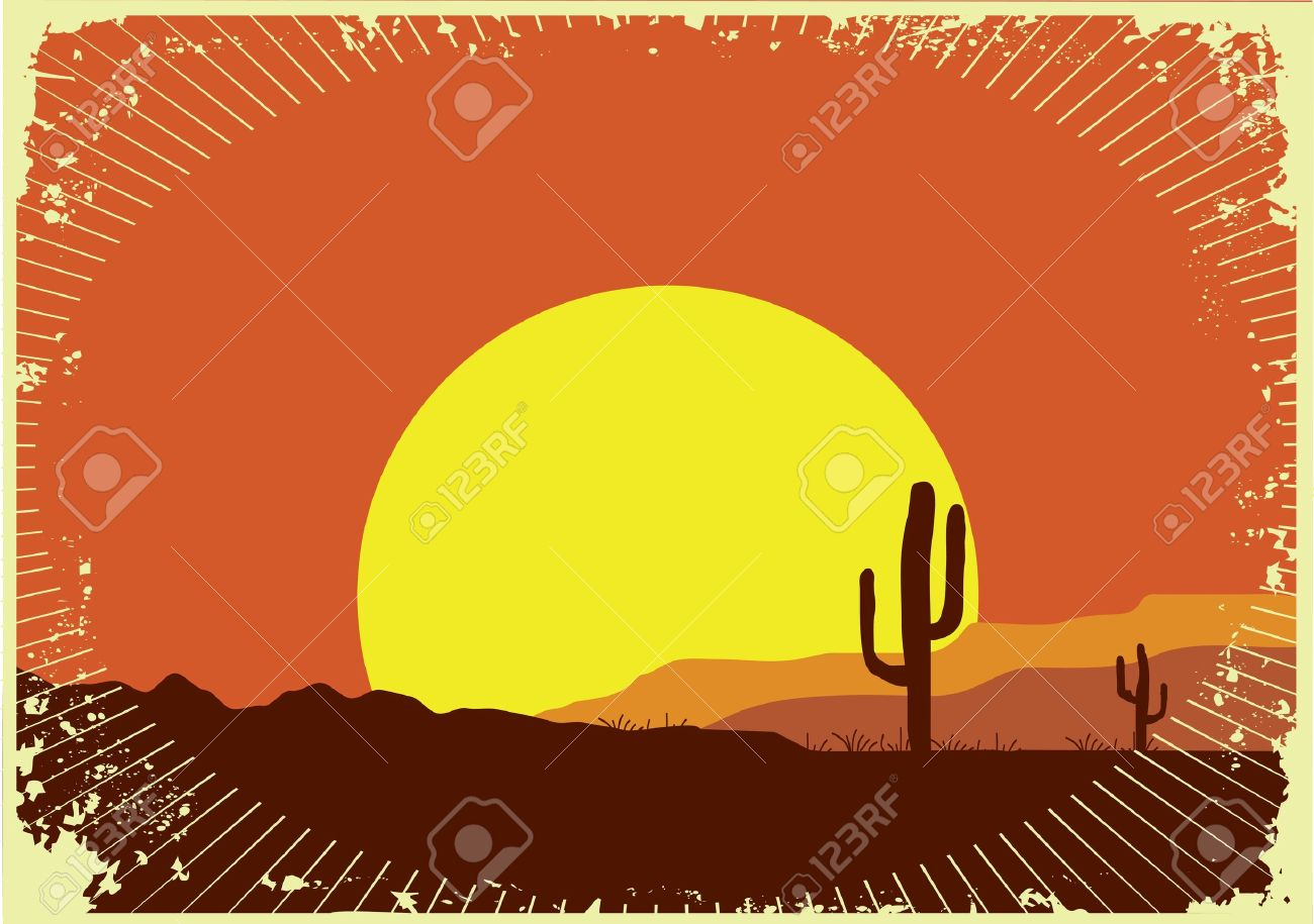 grunge wild western background of sunset royalty free cliparts, vectors,  and stock illustration. image 10633580.  123rf