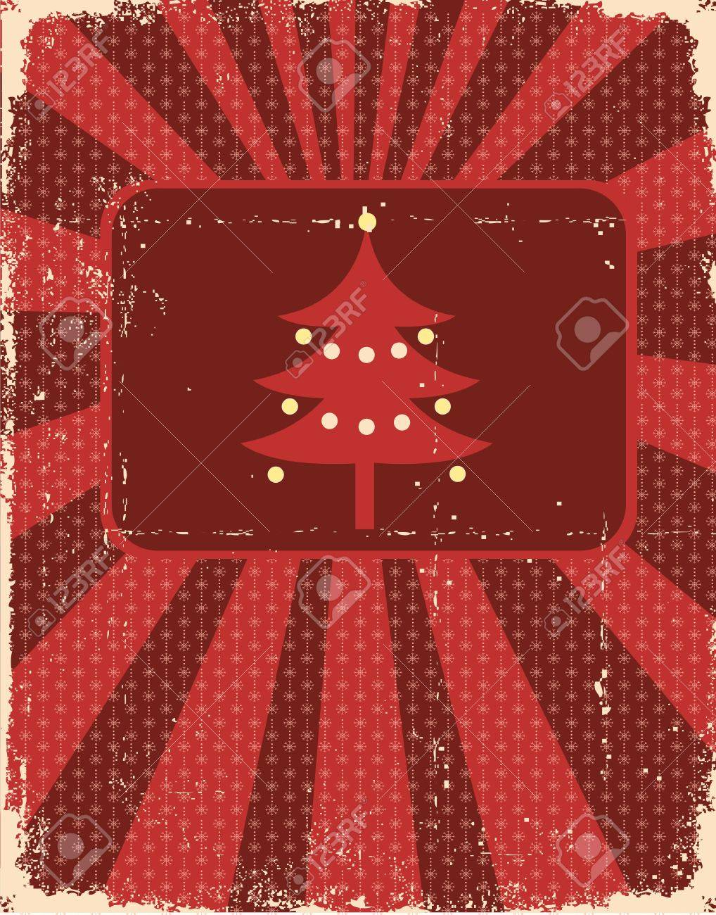 Vintage christmas card on old paper texture for design Stock Vector - 10774588