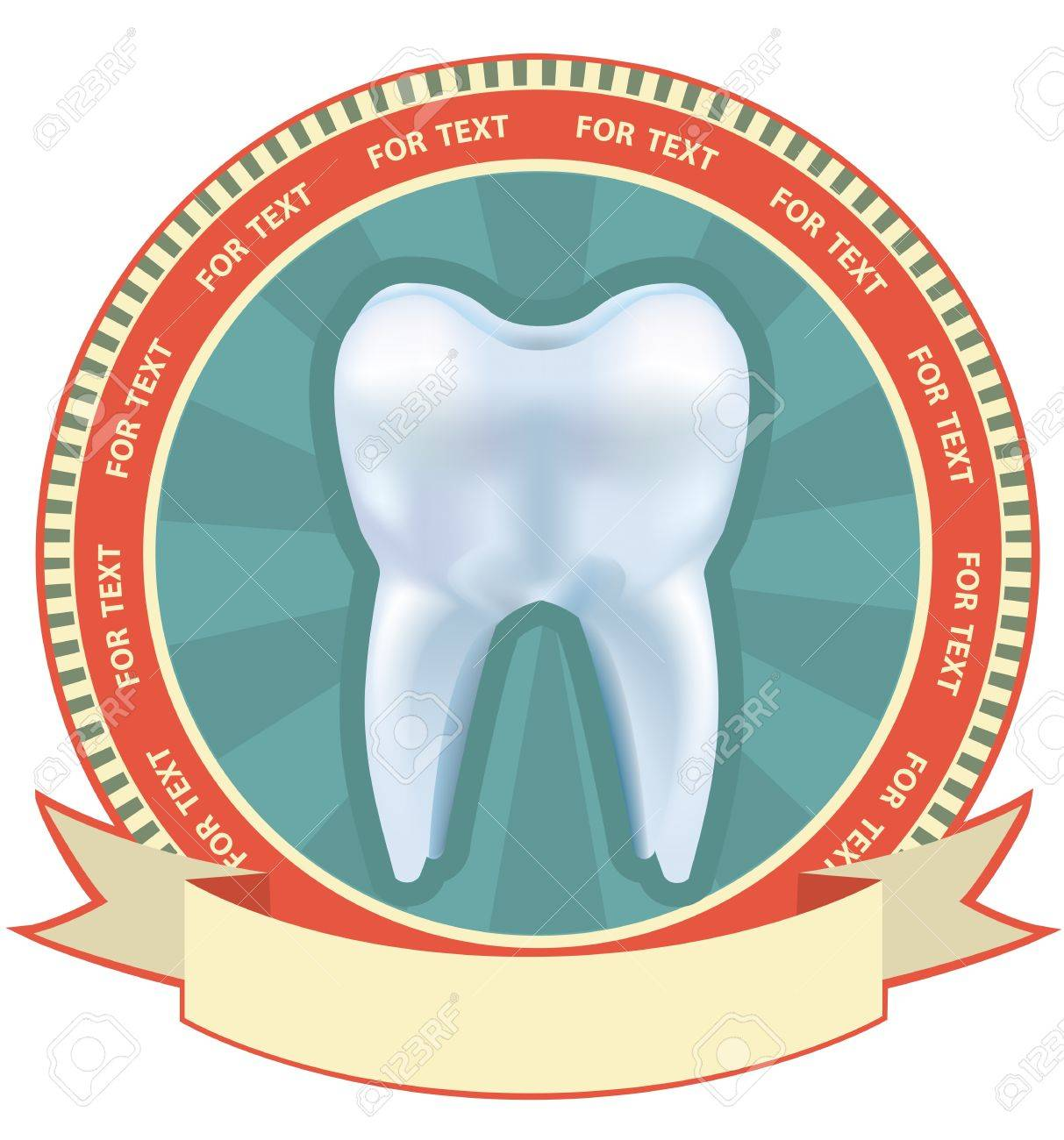 Tooth label set. illustration with Mesh effect Stock Vector - 12331086
