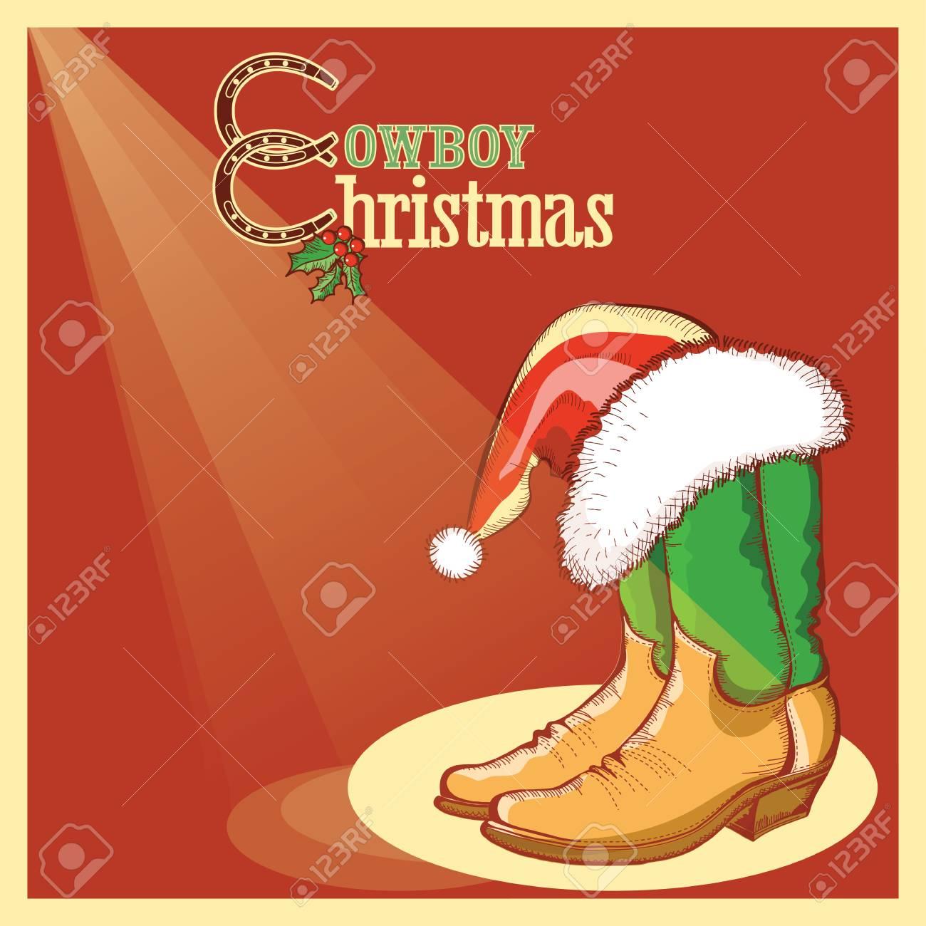 Amerikanische Weihnachtskarten.Stock Photo